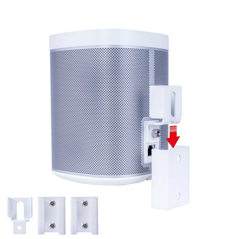 Vebos portable Sonos wall mount Sonos Play 1 white