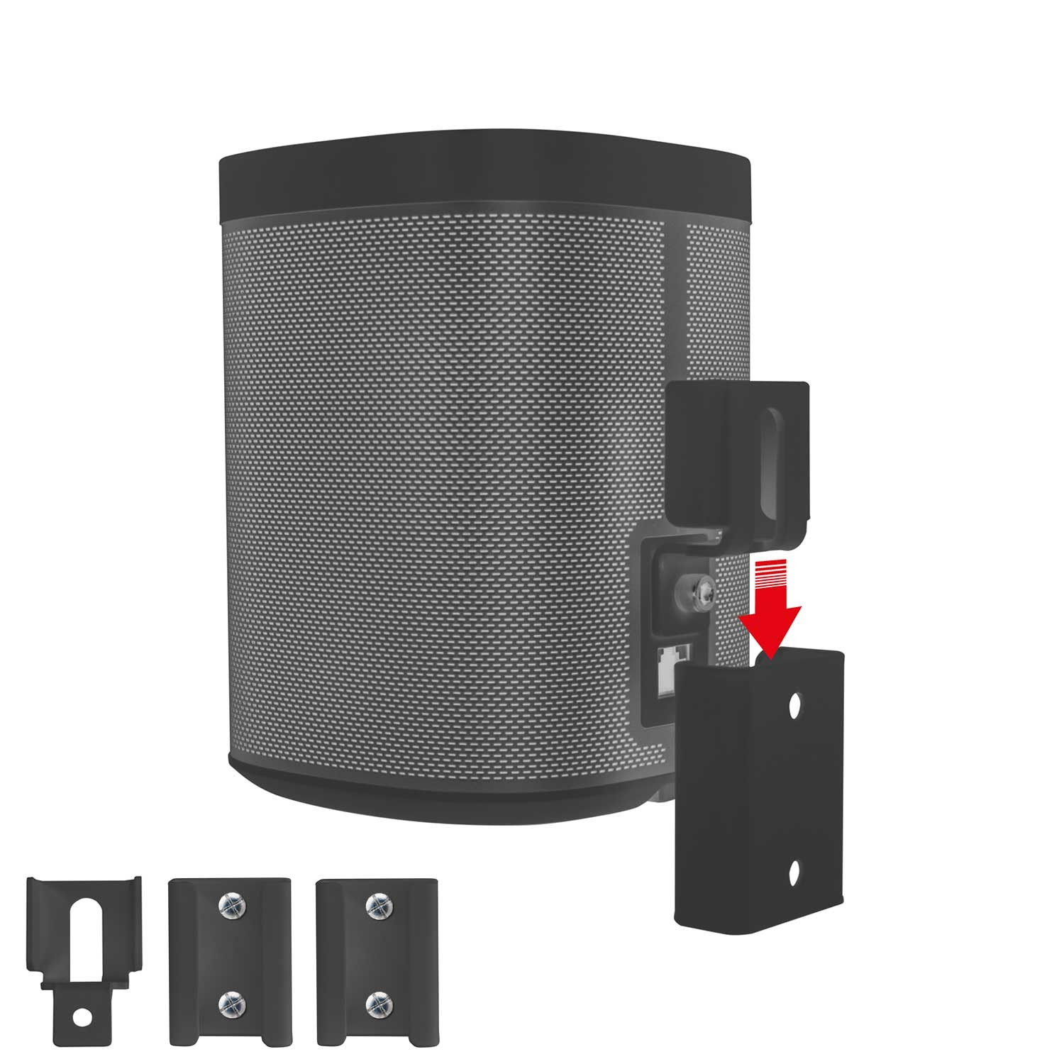 vebos portable wall mount sonos play 1 black the. Black Bedroom Furniture Sets. Home Design Ideas