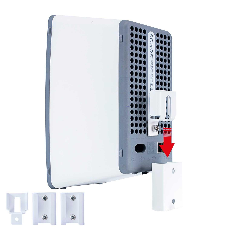 Vebos Portable Wall Mount Sonos Play 3 White The