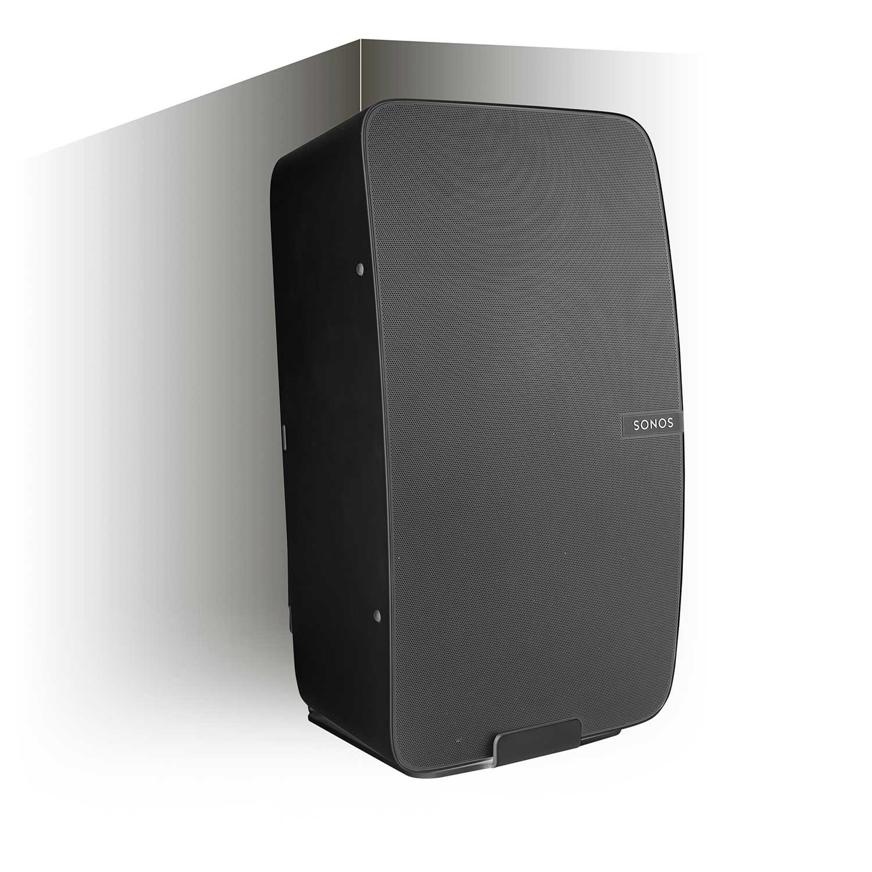 Vebos Wall Mount Sonos Play 5 Gen 2 Black 20 Degrees