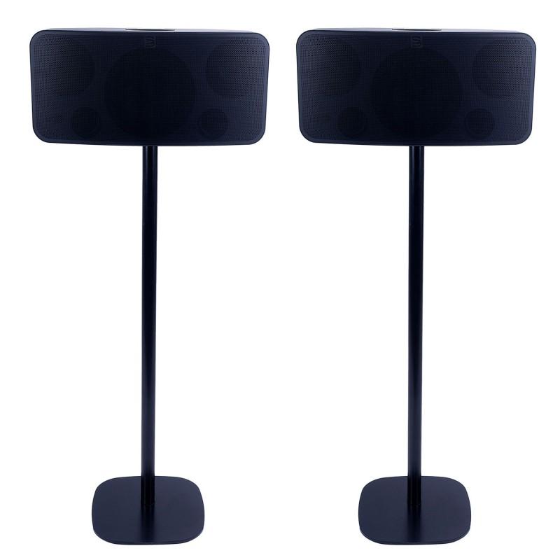 Vebos floor stand Bluesound Pulse 2 black set