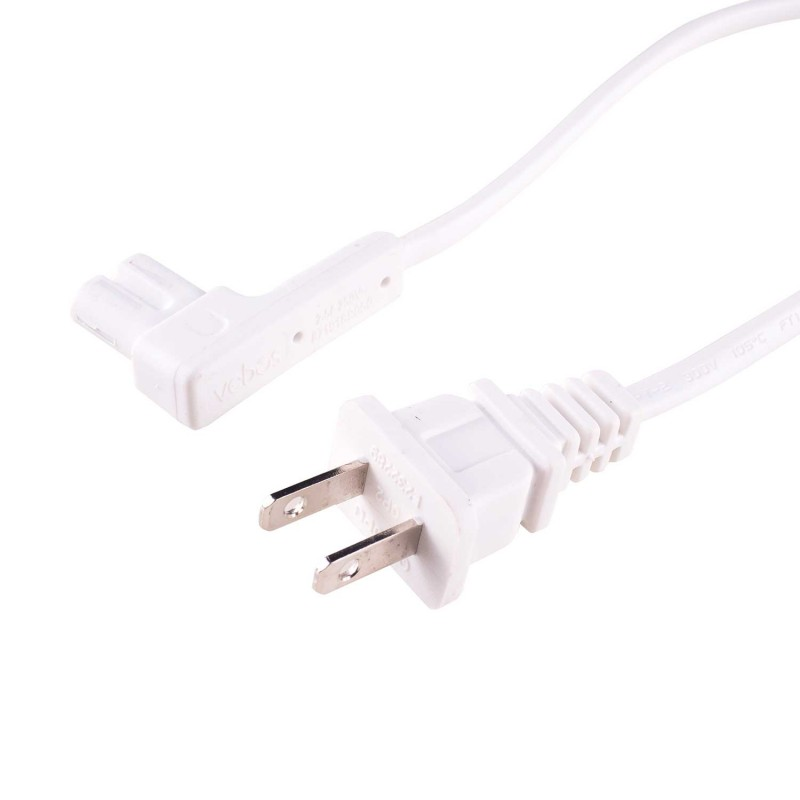 Power cable Sonos One white 8 inch/20 cm US plug